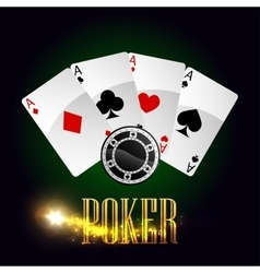 Casino poker cards poster vector