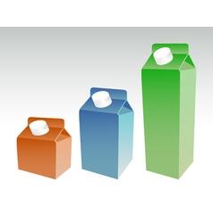 Milk cart vector image