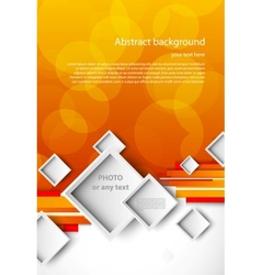 Abstract orange brochure vector