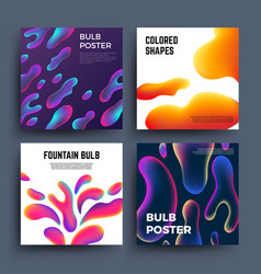 Abstract backgrounds with fluid colored shapes vector