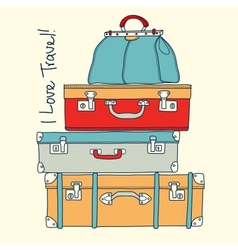 I love travel Travel concept with vintage vector image