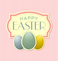 Happy easter retro template vector
