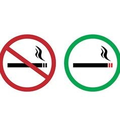 Smokings signs vector image