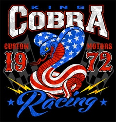 King cobra motor racing graphic vector image