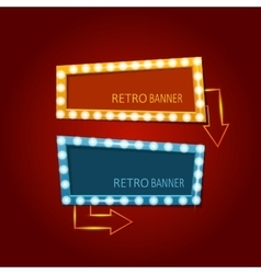 Bright retro banners with light effects vector