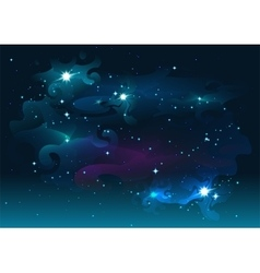 Night starry sky stars and space dark abstract vector