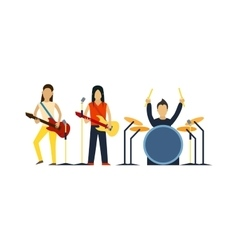 Music band with instruments vector