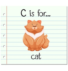 Flashcard letter c is for cat vector