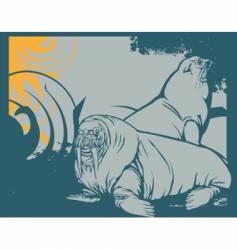 walrus vector image