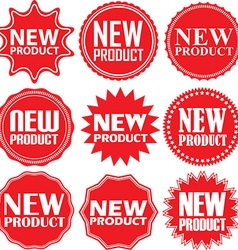 New product signs set new product sticker set vector