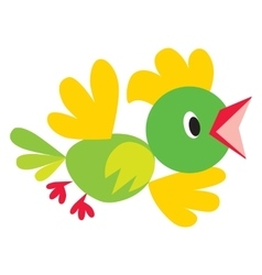 funny bird or parrot vector image