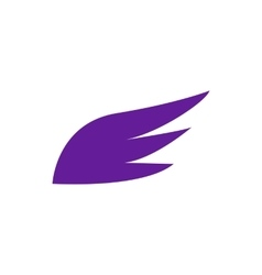 Violet wing icon simple style vector