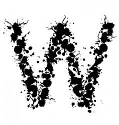 alphabet ink w vector image vector image
