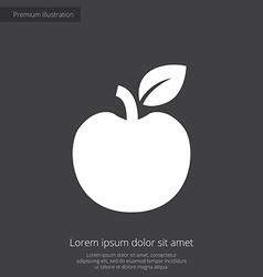 Apple premium icon white on dark background vector