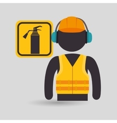 avatar worker protection tool vector image vector image