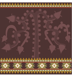 Banner with ancient american ornaments vector