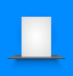 book shelf on light blue background vector image