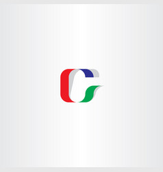C logo letter icon logotype red green blue vector