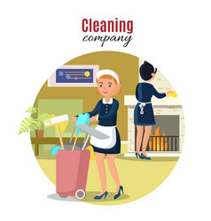 colorful cleaning service concept vector image vector image