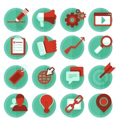 Digital marketing icons in flat style vector