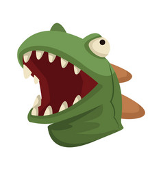 Dinosaur mask head mouth reptile vector