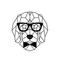 dog beagle in glasses geometric style vector image vector image