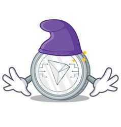 Elf tron coin character cartoon vector