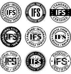 International food standard stamp vector image vector image