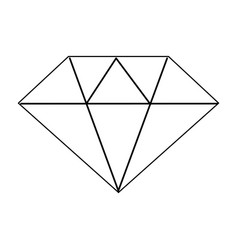 Line beautiful gem diamond to luxury use vector