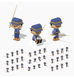 Low poly fisherman vector image vector image