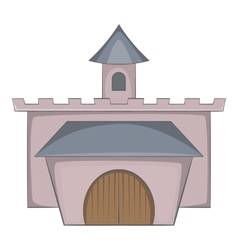 Medieval palace icon cartoon style vector