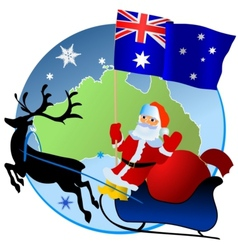 Merry christmas australia vector