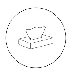 Napkin icon outline single tattoo icon from the vector