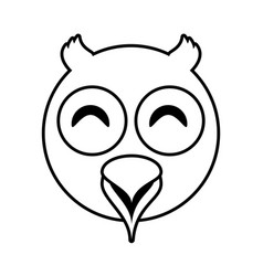 owl face animal outline vector image vector image