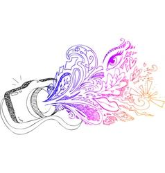 Photo camera sketchy doodles vector image vector image