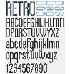 Retro triple line stripes font vector image vector image