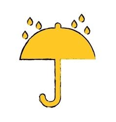 Shipping umbrella symbol vector