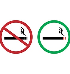Smokings signs vector image vector image