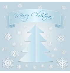 Snow Merry Christmas vector image