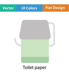 Toilet paper icon vector image vector image