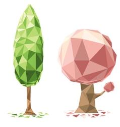 tree polygon vector image vector image