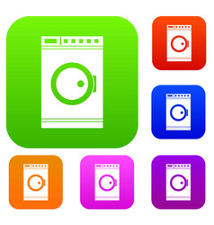 washing machine set collection vector image vector image