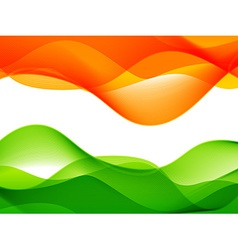 Wave style indian flag design vector