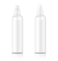 White sprayer bottle template vector