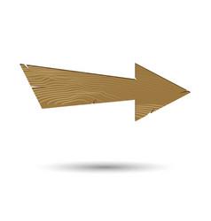 wood board arrow signboard vector image vector image