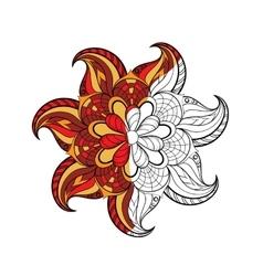 Zentangle stylized arabic indian round mandala vector