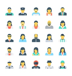Professions colored icons 3 vector