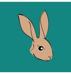 Easter rabbit animal cartoon vector