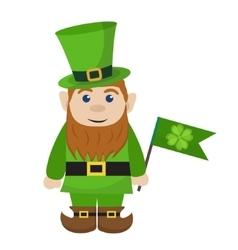 Leprechaun icon flat style St Patricks Day vector image