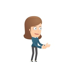 Girl manager suitable for use in dialogues with vector image